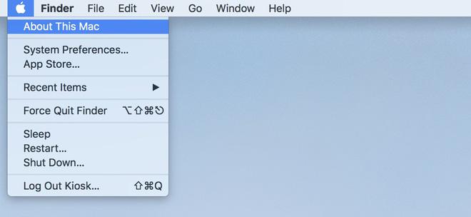 """Thông tin của máy được hiển thị trong cửa sổ """"About This Mac""""."""